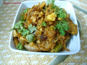 Hyderabadi Khageena or Onion Egg Recipe