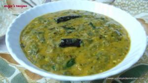 Hyderabadi Palak Katli or palak dal recipe