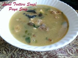 lamb trotters soup or mutton paya soup