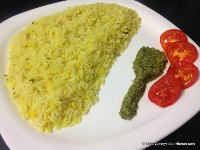 The color of this dish is 'light yellow' and the flavor of the ...
