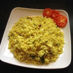 Uggani or puffed rice recipe , puffed rice upma
