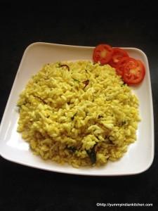 Uggani or puffed rice recipe , puffed rice upma