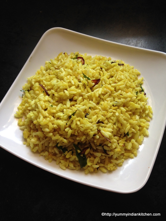 uggani or puffed rice upma recipe