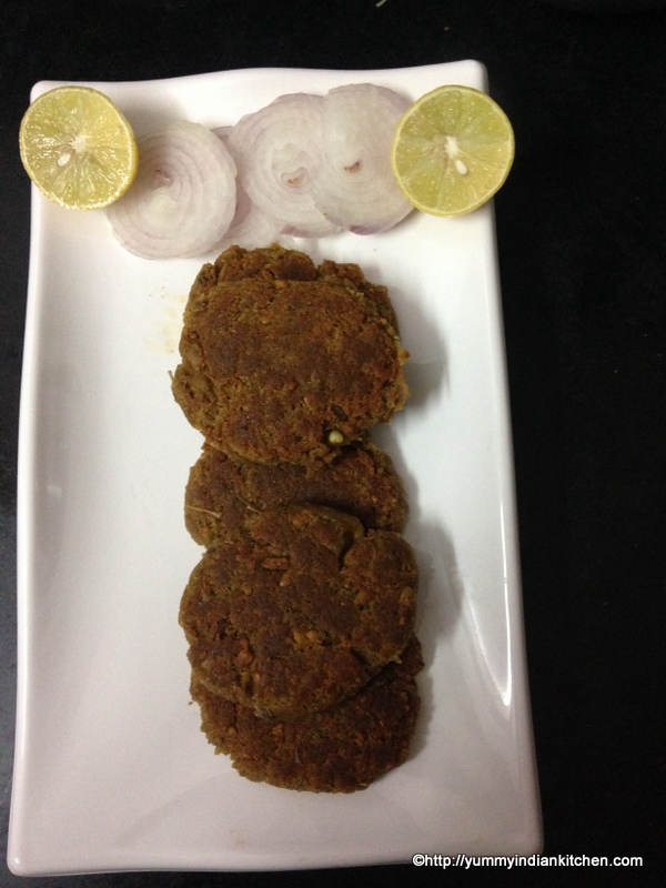 hyderabadi shami kabab recipe, mutton shami kabab recipe