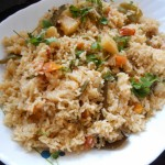 Vegetable Rice Recipe Spicy,Hyderabadi Veg Tahari Recipe