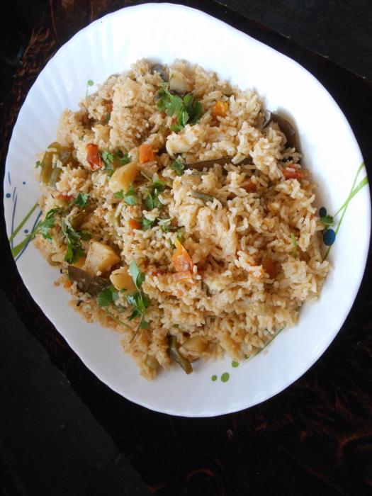 vegetable rice tahari recipe hyderabadi