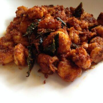 stir fried prawn fry served in a plate