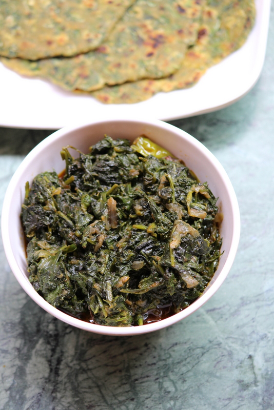 palak sabji recipe