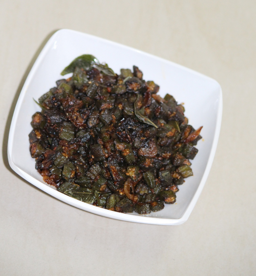 bendakaya vepudu or bendakaya fry