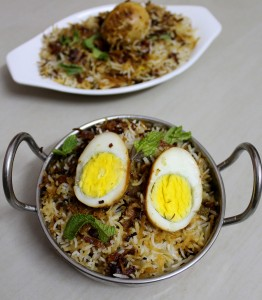 to make hyderabadi egg biryani recipe in dum method or egg dum biryani