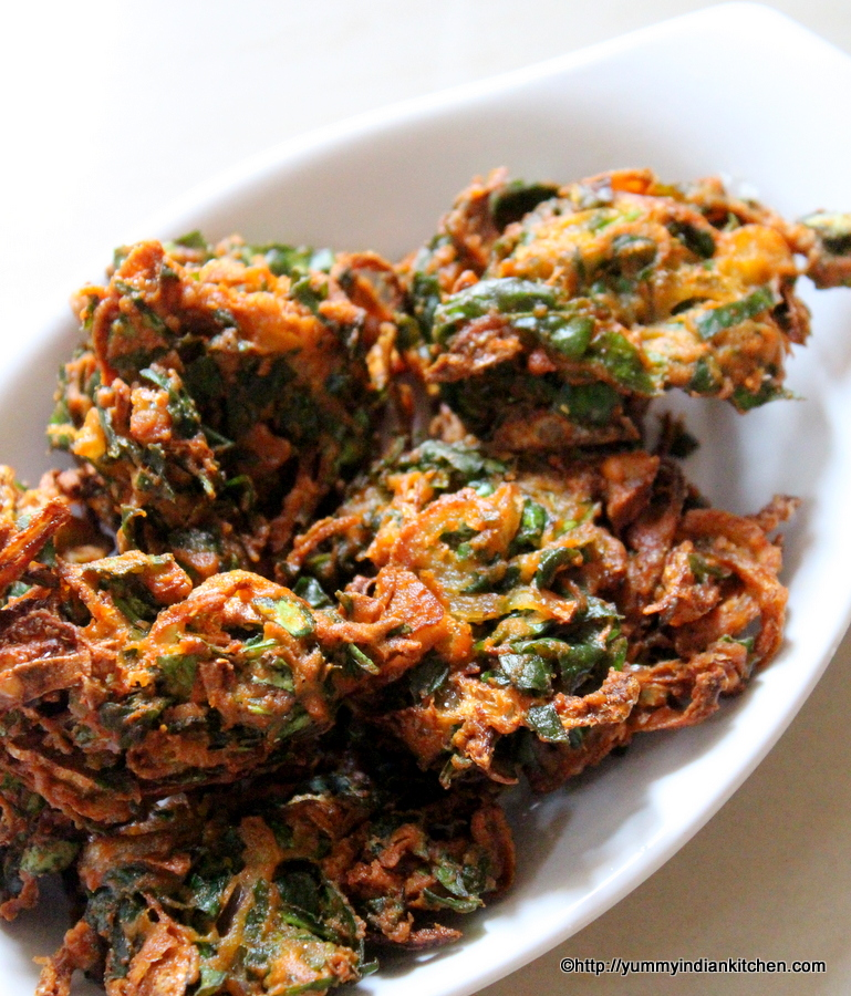 palak pakoda recipe