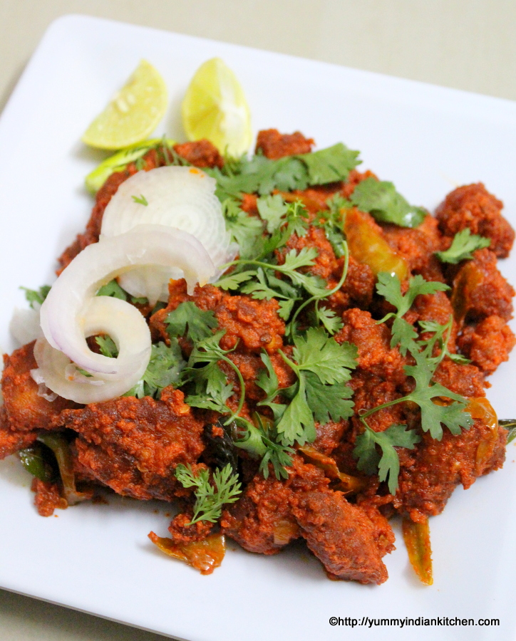 chicken 65 recipe hyderabadi dry and gravy