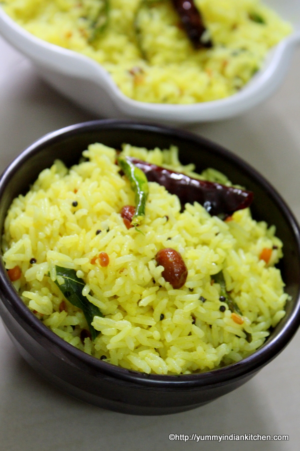 lemon rice recipe or chitrannam