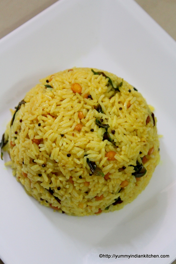 tamarind rice recipe or pulihora