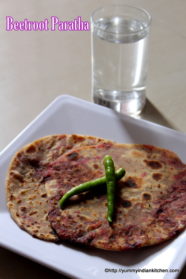 beetroot paratha or beetroot roti