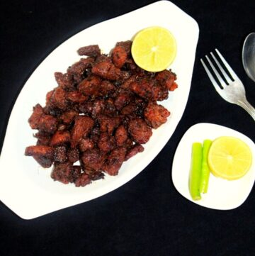 mutton fry in a bowl