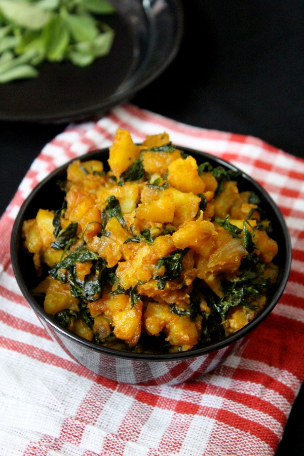 aloo methi curry or aloo methi sabzi