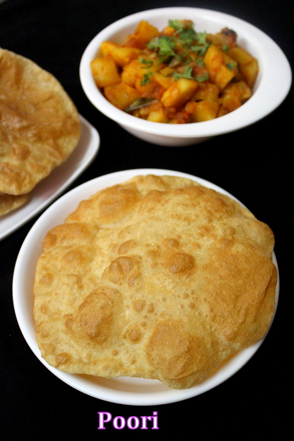 how to make soft and puffy poori or puri recipe