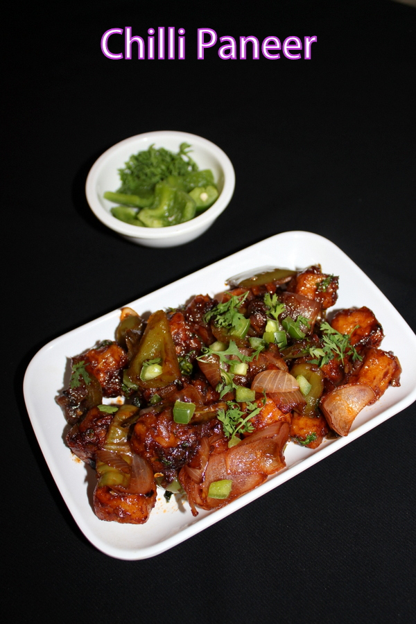 Chilli Paneer Recipe Chilli Paneer Dry And Gravy Recipe