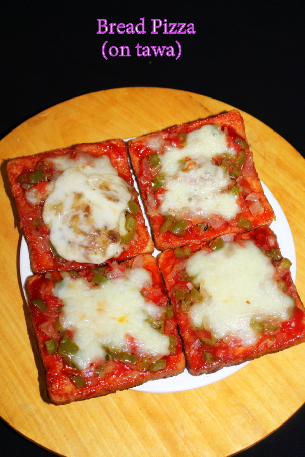 bread pizza recipe tea time snacks