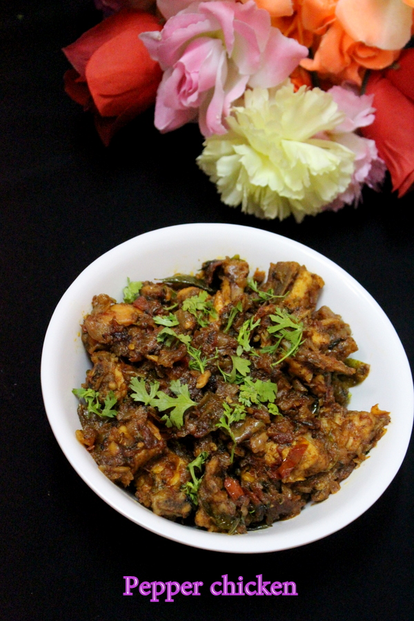 pepper chicken recipe or how to make pepper chicken