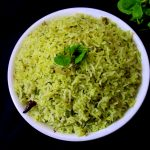 pudina rice recipe, mint rice recipe | how to make pudina rice