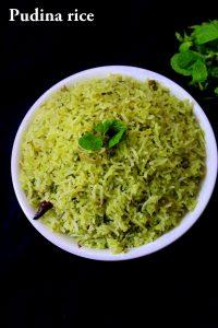 pudina rice recipe