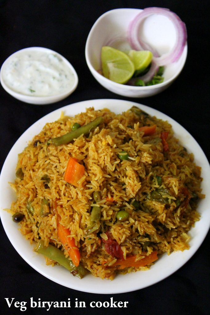 Veg Biryani In Cooker Cooker Biryani Yummy Indian Kitchen