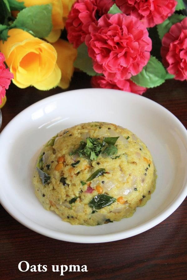 oats upma recipe, oats for breakfast