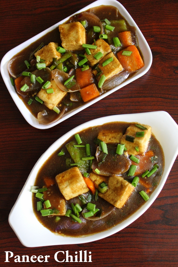 chings chilli paneer or paneer chilli gravy
