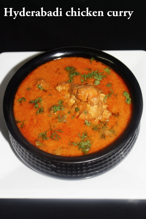 hyderabadi chicken recipe
