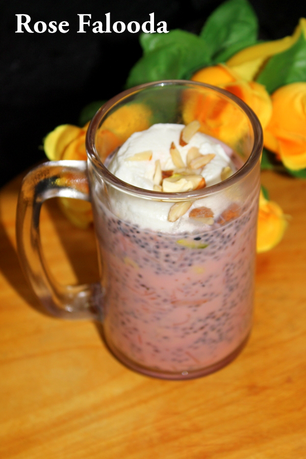rose falooda recipe