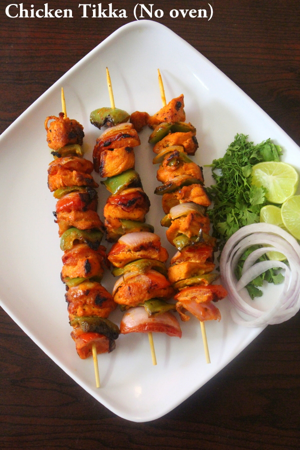 chicken tikka recipe without oven