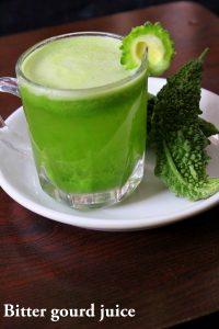 karela juice or bitter gourd juice