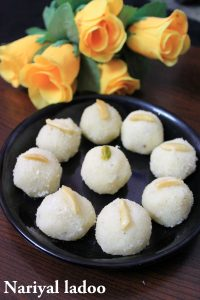 coconut laddu or nariyal ladoo