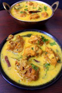 punjabi kadhi recipe or kadhi pakora