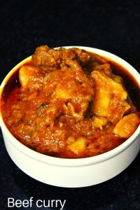 beef curry or beef gravy