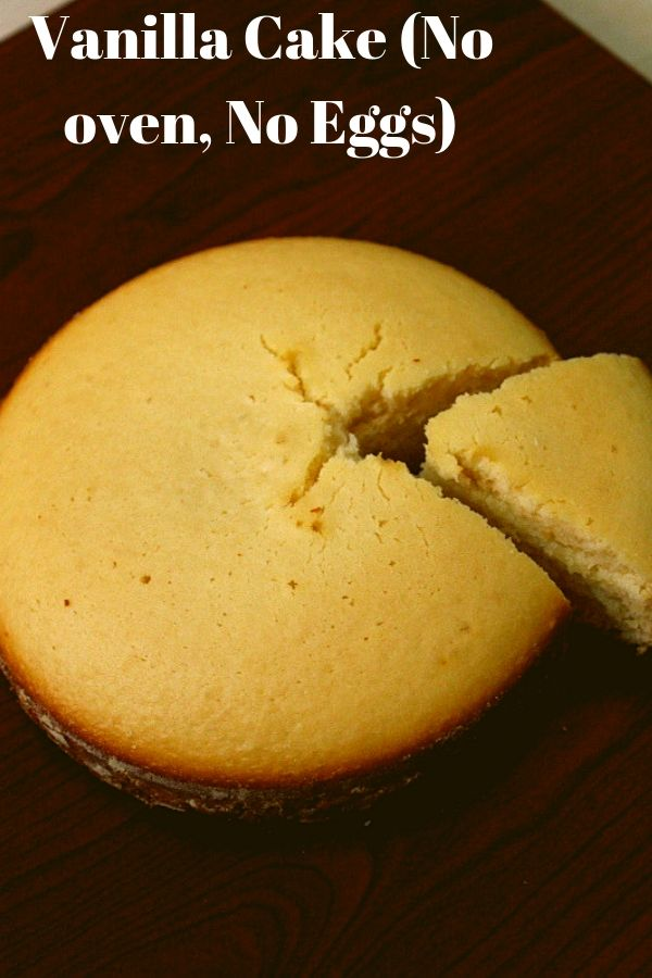 eggless vanilla cake or plain cake without oven