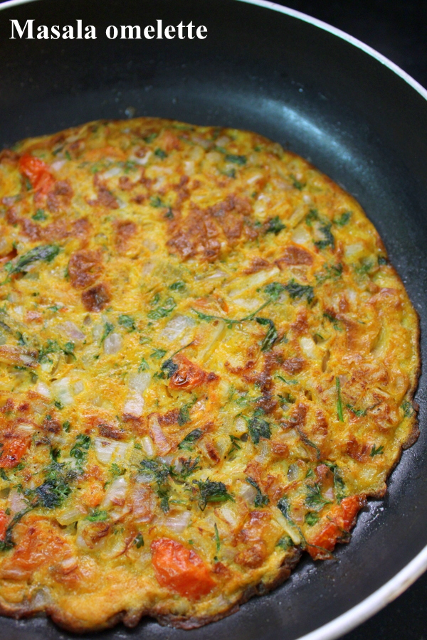 masala omelette indian breakfast recipe