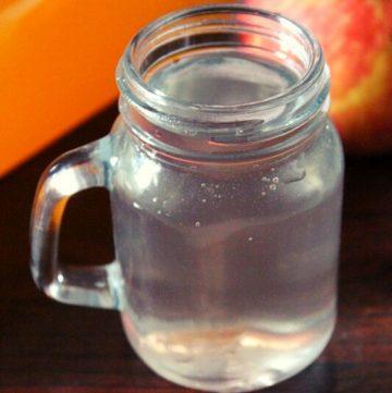 apple cider vinegar served in a glass jar