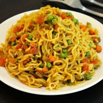 maggi noodles on a plate