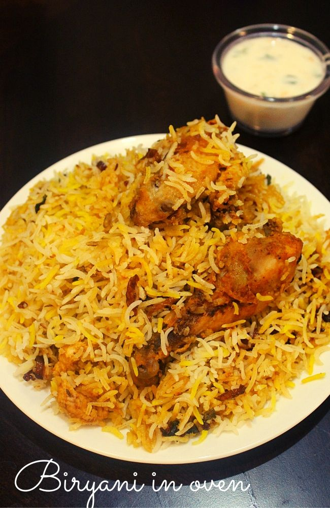 chicken dum biryani in oven