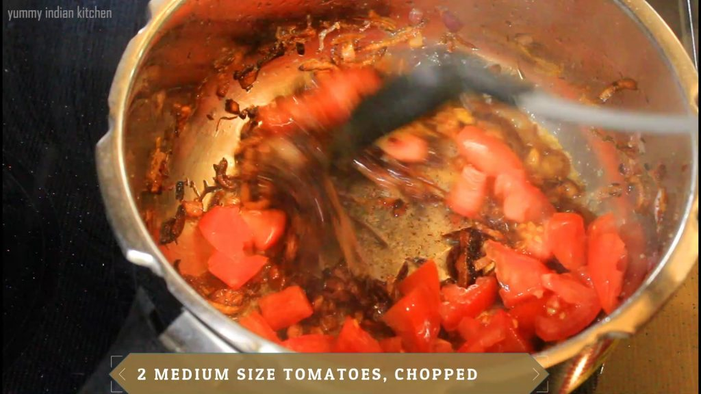 Adding the tomatoes