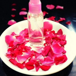 homemade rose water for face