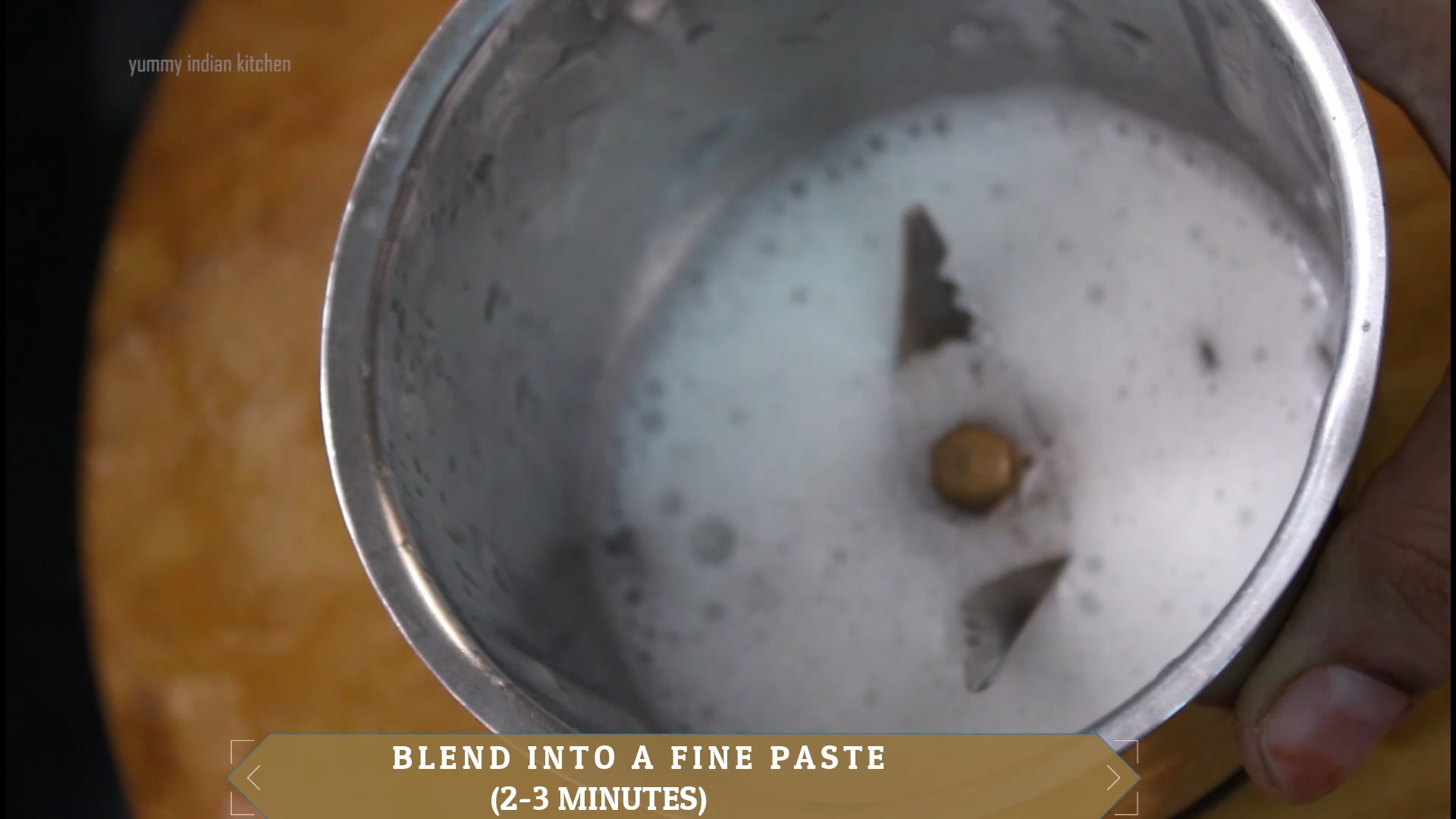 blended form of aloe vera gel