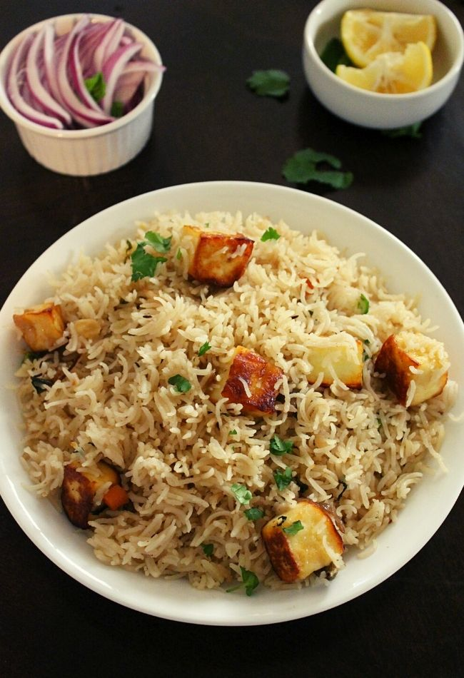 paneer rice or paneer pulao