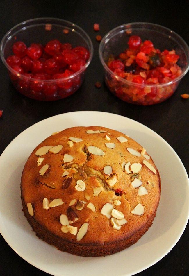 christmas cake or plum cake