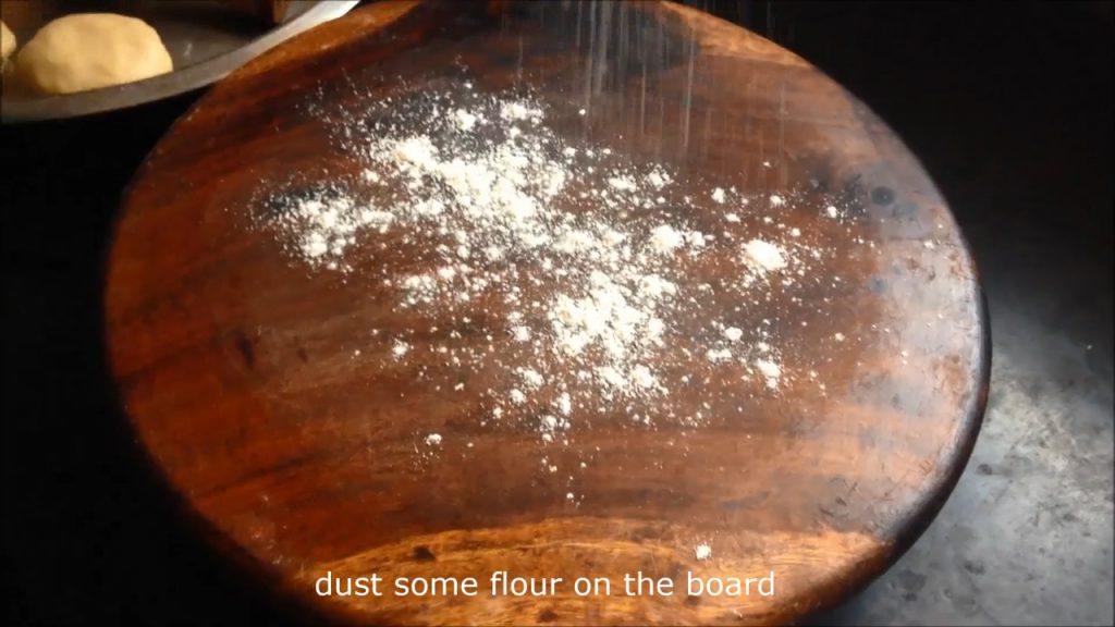 dust some wheat flour