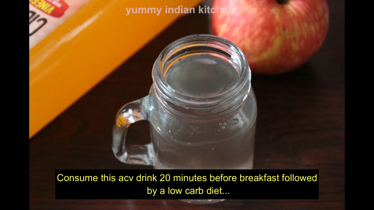 apple cider in a jar to drink before breakfast or on an empty stomach