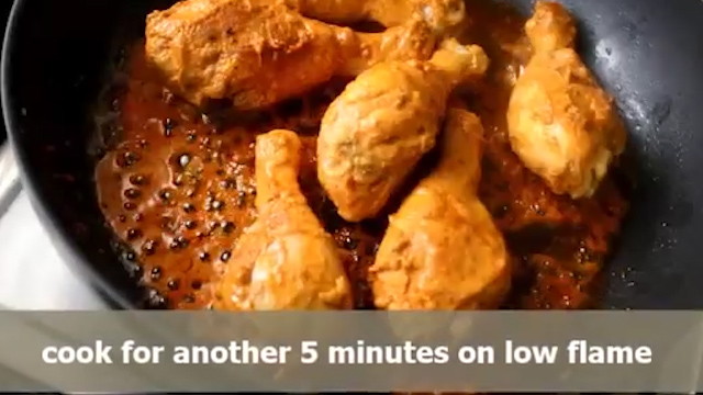 cooking chicken leg pieces on both sides well